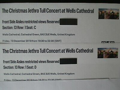 JETHRO TULL Christmas Concert Tickets - 13.12.2019 - Wells Cathedral UK