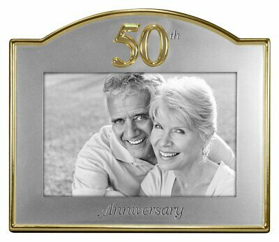 Malden International Designs Wedding 50Th Anniversary Two Tone Picture Frame, 4X