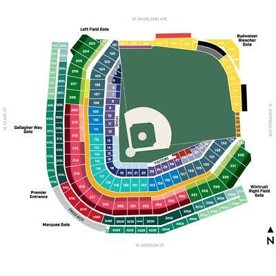 BUY 1 to 14 CHICAGO CUBS LOWER LEVEL TICKETS vs. NATIONALS- 8/23/19- Section 210