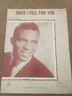 SINCE I FELL FOR YOU Buddy Johnson 1943 Sheet Music