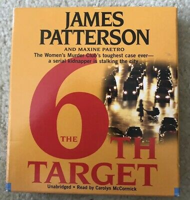 "Audio Book "" The 6th Target"" By James Patterson"" Unabridged Used Good Condition"
