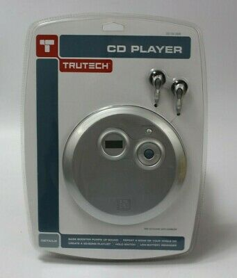 NIP! TRUTECH Personal Portable CD Player w/ Earbuds T100-CD NEW IN PACKAGE