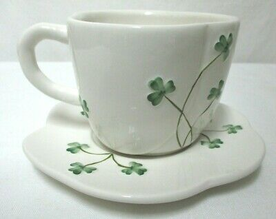 Watervale Ireland Irish Shamrock Clover tea cup saucer