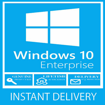INSTANT WINDOWS 10  Enterprise KEY 32 / 64BIT ACTIVATION CODE LICENSE Key