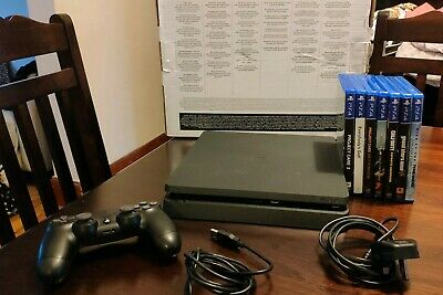 PlayStation 4 Slim PS4 Console Bundle 500GB, 7 Games Headset Wireless Controller
