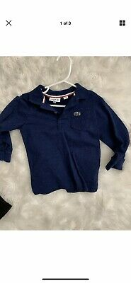 lacoste polo Long Sleeve 3T 98cm Navy