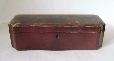 Antique Chinese Black Lacquer Box with Ogee Shaped Sides: For Restoration