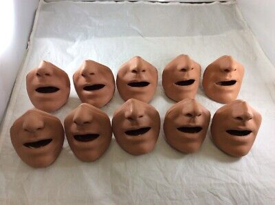 NEW LOT 10x Simulaids CPR Manikin Training Replacement Face Mouth Nose Piece