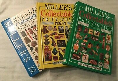 3 Miller's Collectables Price Guides 1990/91 1992/93 1993/94