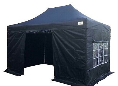 HERCULES GAZEBO® 3m x 4.5m STEEL FRAME POP UP GAZEBO COMMERCIAL GRADE HEAVY DUTY
