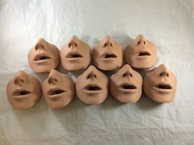 NEW LOT 9x Simulaids CPR Manikin Adam Brad Replacement Face Mouth Nose Piece