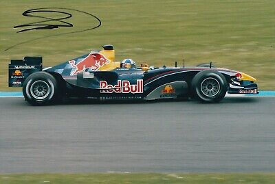 David Coulthard Hand Signed 12x8 Photo - Formula 1 Autograph F1 Red Bull 4.