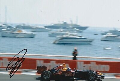 David Coulthard Hand Signed 12x8 Photo - Formula 1 Autograph F1 Red Bull 8.