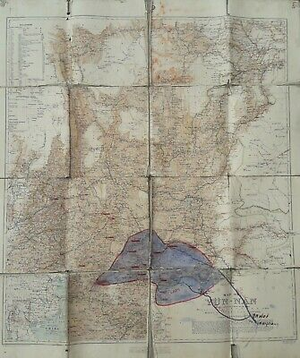 A Genuine 1908 War Office Map Of Yunnan Yun-Nan Province China Including Tibet