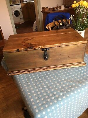 Antique Vintage wooden box/chest with lid