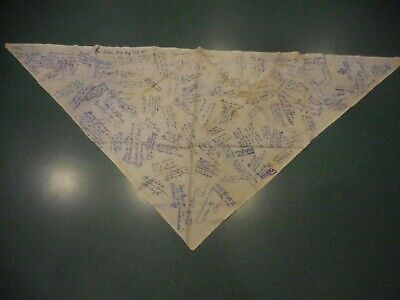 1951 7th World Jamboree Neckerchief Autographed by 100 American Contingent