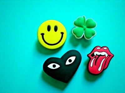 Shoe Plug Button Charm For Accessories For Rolling Stone Smile Face