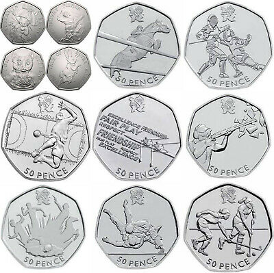 New Cheap Commemorative Peter Rabbit Paddington Bear Olympics 50p coin
