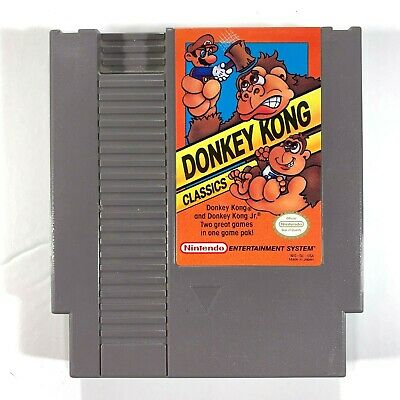 Donkey Kong Classics NES Game Cartridge Only Tested And Works Great 1988
