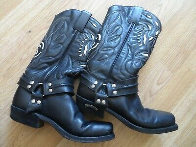 a2bc983c44c78 RUDEL LEATHER Cowboy Mexican Rodeo Boots Mens Size UK 10 Black Coool ...