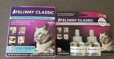 Feliway Classic Starter Kit plus 2 refills. Total of 90 day supply and diffuser