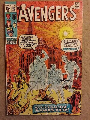 """1971 The Avengers #85 """"World is Not for Burning"""" Marvel Comics NO RESERVE"""
