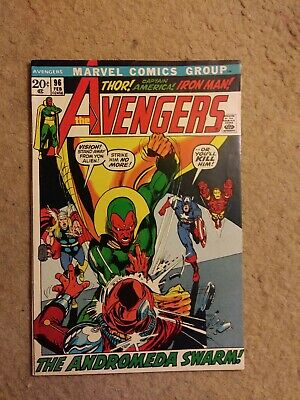 """Vintage 1972 The Avengers #96 """"The Andromeda Swarm"""" Marvel Comics NO RESERVE"""