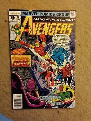 """Vintage comic 1978 The Avengers #168 """"First Blood"""" Marvel Comics NO RESERVE"""