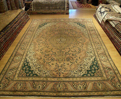 9.6 x 12.8 Handmade Antique 1930s Persian Vintage Rug _Great Condition_Fine Wool