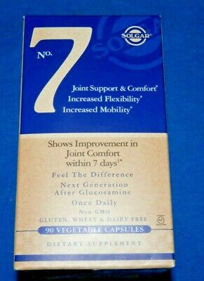 Solgar No. 7 90 Vegetable Capsules Joint Support & Comfort Exp 1/2022 new fresh