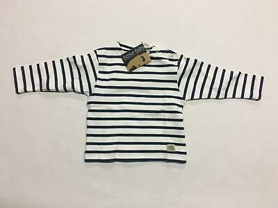 Armor Baby Long Sleeve Breton Blue Striped Shirt Size 12 Months Model 47382
