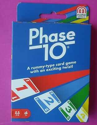 Phase 10 Card Game Brand New In Original Box Excellent Free Tracking Postage