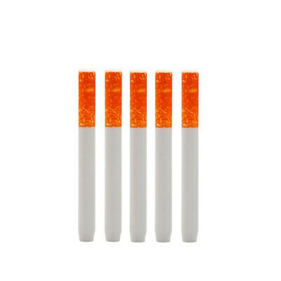 5 x 78mm Ceramic One Hitter Pipe Dugout Cigarette Shape Smoking Tobacco Pipe