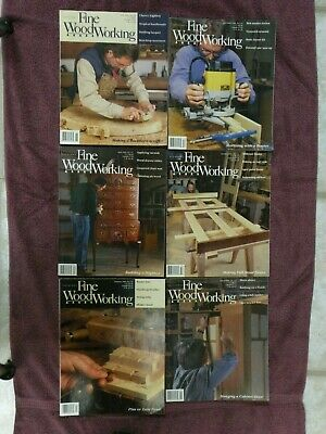 Taunton's Fine Woodworking,#116-121, 1996 six issues.