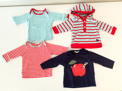 Lot of 4 Baby Boden Long Sleeve Tops Size 3-6 Months