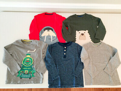 Lot of 5 Mini Boden Long Sleeve Tees Size 3-4