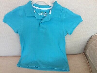 Jumping Beans Boys Blue Cotton Polo Shirt Size 3T