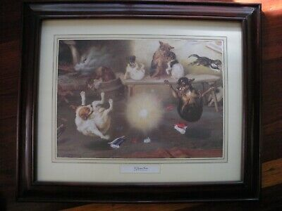 Set Of Two W.h. Trood Prints, Christmas Crackers, Framed