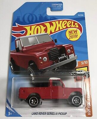 New 2019 Hot Wheels Land Rover Series 3 Pickup RED
