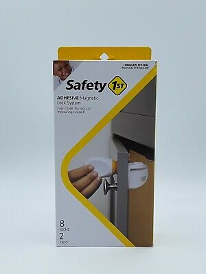 Safety 1st Adhesive Magnetic Child Safety Lock System - 8 Locks & 2 Keys