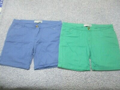 2 Pair Shorts Ladies Size 14, Rivers, Stretchy, Zip Up, Pockets