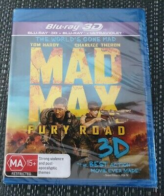 Mad Max Fury Road 3D + Blu-ray (2 Disc Set) Brand New & Sealed