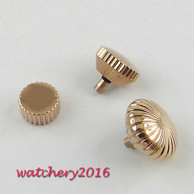 316L Stainless Steel PARNIS Rose Golden Watch Crown fit 6497 6498 ST36 Movement