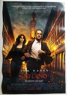 Inferno 2016 Tom Hanks Original Movie Poster Ds Double Sided / 27X40 Inch