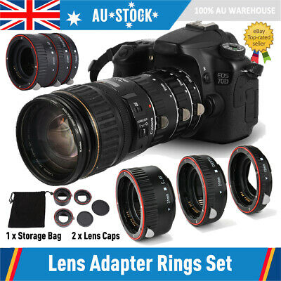 Auto Focusing Macro Extension Lens Adapter Tube Rings for Canon EOS EF Lens AU
