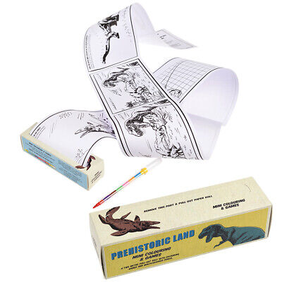 Rex London PREHISTORIC LAND MINI COLOURING AND GAMES