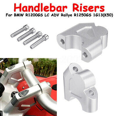 Silver Per Newly Motorcycle Handlebar Risers Kit Universal Raiser Rise Handle Bar for BMW R1200GS LC R1250GS 1G13 K50
