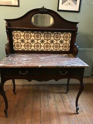 Antique Victorian console table with marble top excellent condition