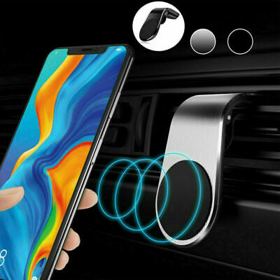 In Car Magnetic Phone Holder Fits Air Vent Universal Mount Various Colours GPS