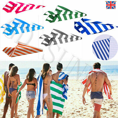 Striped Extra Large Microfibre Lightweight Beach Towel - Speed Dry- Travel Towel